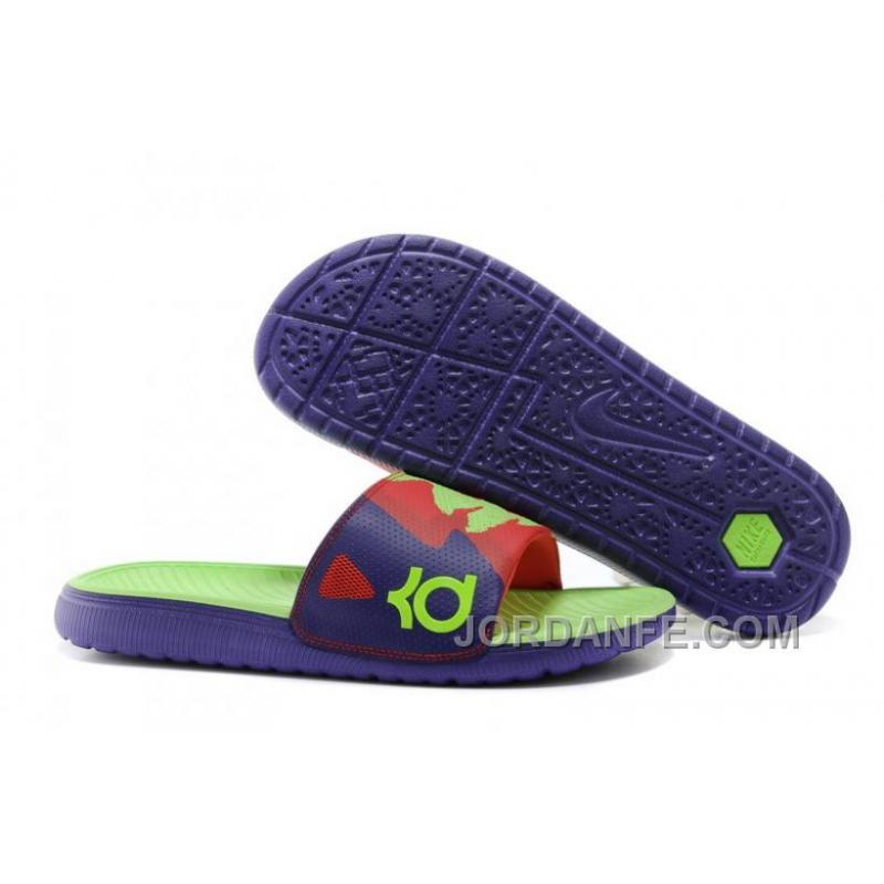 f24766bd5a1af Nike KD Solarsoft Slide Court Purple Electric Green-Light Crimson ...