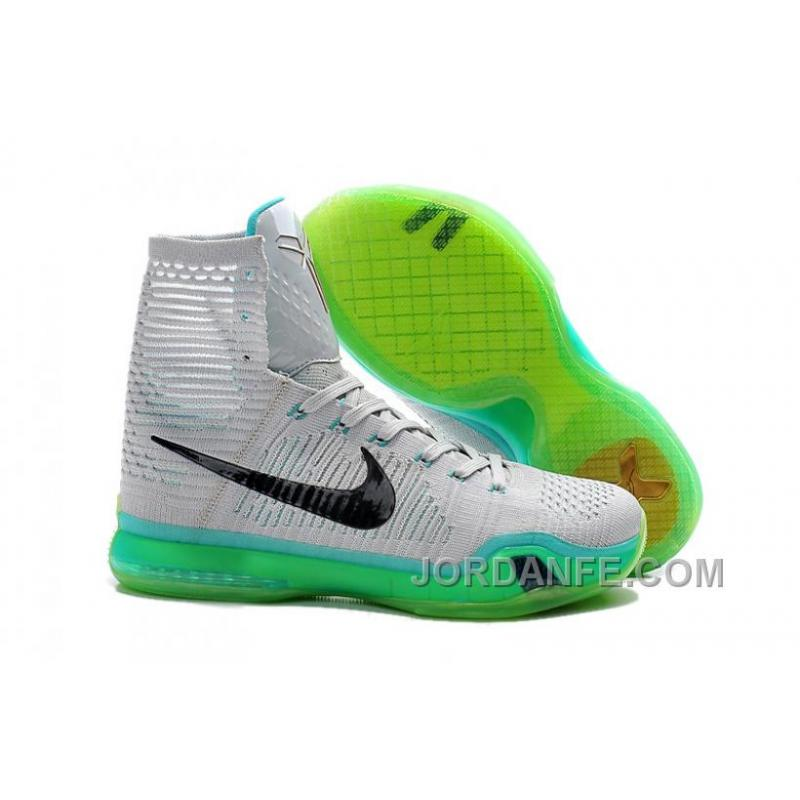9f428a1e7a83 Nike Kobe 10 High Top Elite Elevate Wolf Grey White Light Retro ...