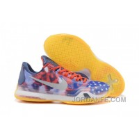 Nike Kobe 10 X USA Independence Day University Red Reflect Silver-Photo Blue Discount