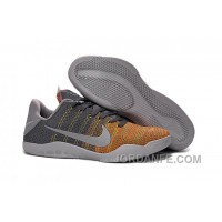 """Kobe 11 Elite Low """"Cool Grey"""" Cool Grey/Voltage Green-Yellow Strike 2016 For Sale Free Shipping"""