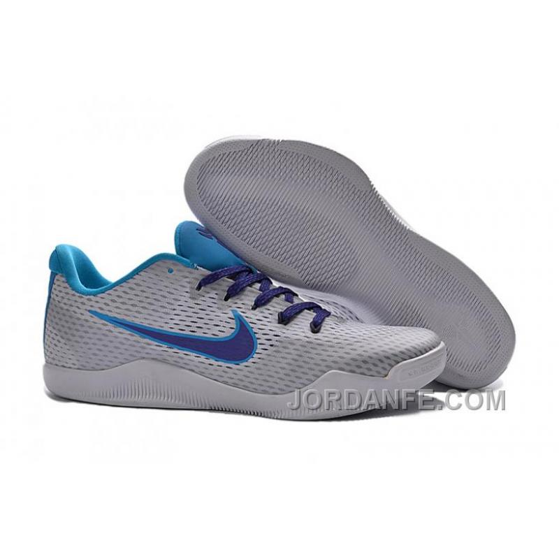 "3cf467a78bb1 USD  85.38  99.18. Nike Kobe 11 ""Draft Day"" White Blue Lagoon-Court Purple  ..."