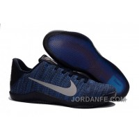 Nike Kobe 11 Flyknit Blue Basketball Shoes For Sale New Release
