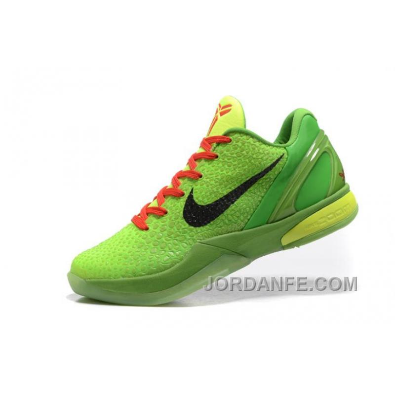 brand new 5def5 19603 ... Nike Zoom Kobe 6 Grinch Christmas Green Mamba Basketball Shoes Discount  ...