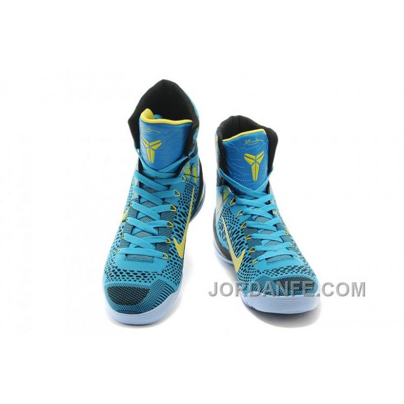 reputable site 51d77 35782 ... Nike Kobe 9 Elite High Top Perspective Neon Turquoise Volt Blue Black  Authentic ...