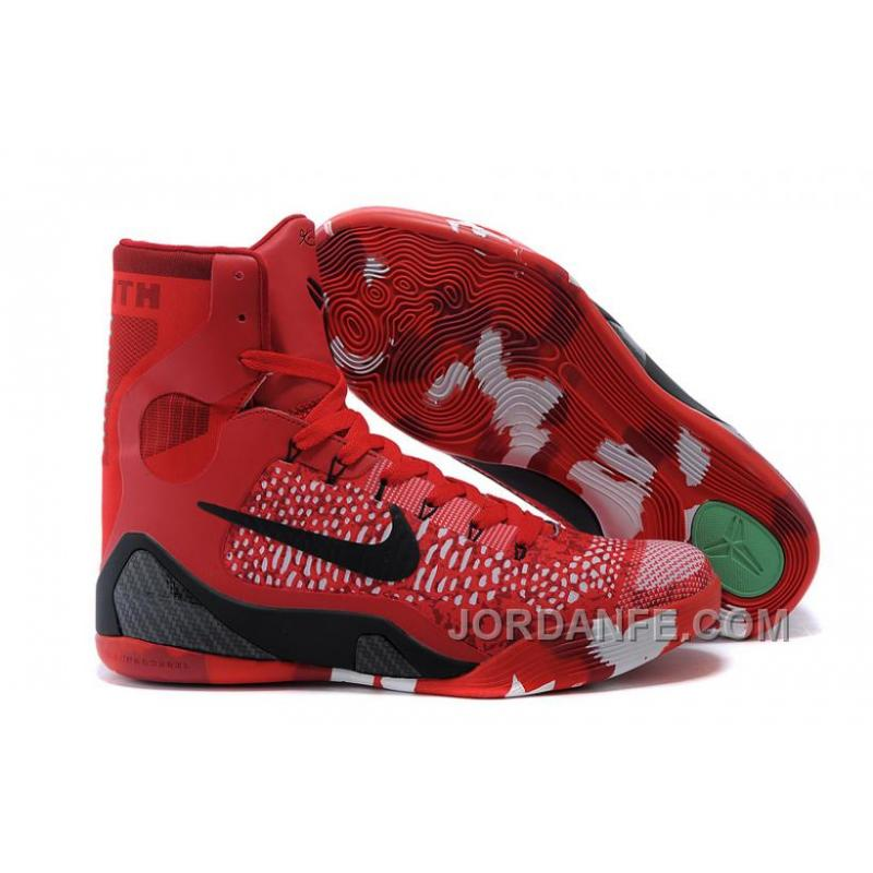 huge selection of bf44b fdb08 USD  99.18  99.18. Nike Kobe 9 Elite Christmas High Top Bright Crimson  Black White ...