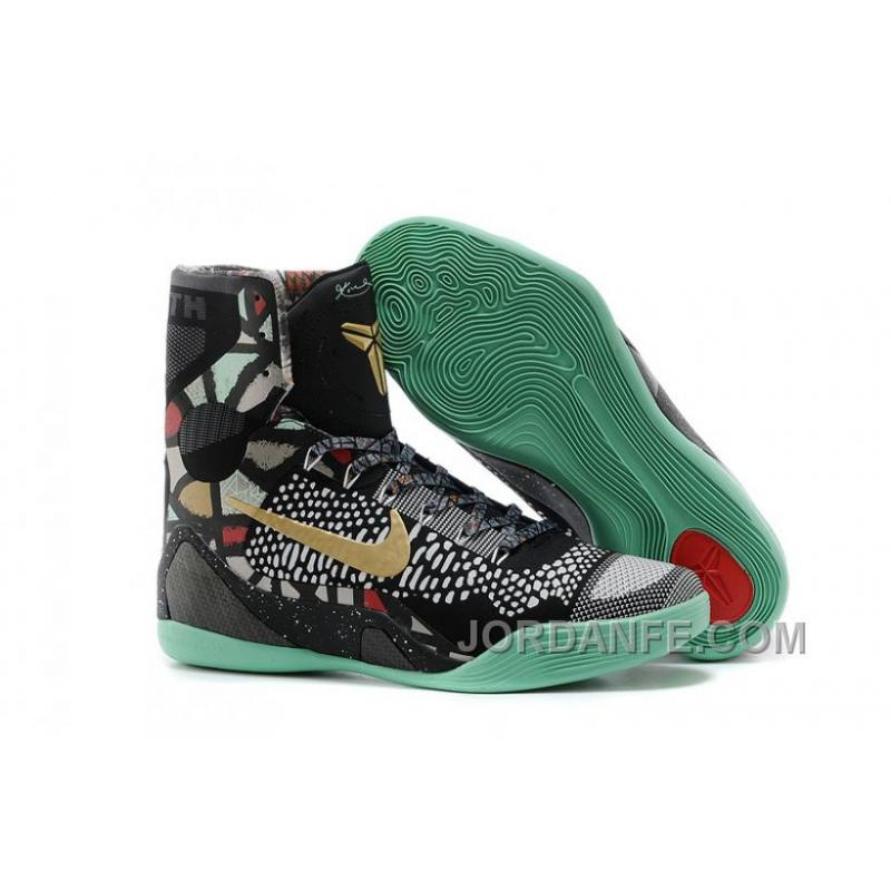 best website 225fa 13ede ... get nike kobe 9 elite high top all star devotion black gold turquoise  super deals 9cc3e cheap mens nike kobe 9 svart vit ...