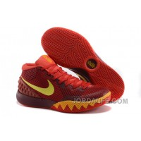 Nike Kyrie 1 Custom Red Yellow Free Shipping