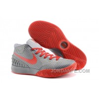 Nike Kyrie 1 Grade School Shoes Grey Red New Arrival