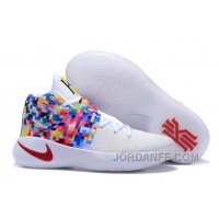 "Nike Kyrie 2 ""Effect"" White-Red/Multi-Color Free Shipping"