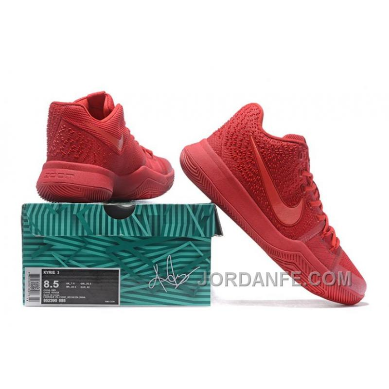detailed look a8b2b 36eca Nike Kyrie 3 Mens BasketBall Shoes All Red Top Deals BPiaw, Price ...