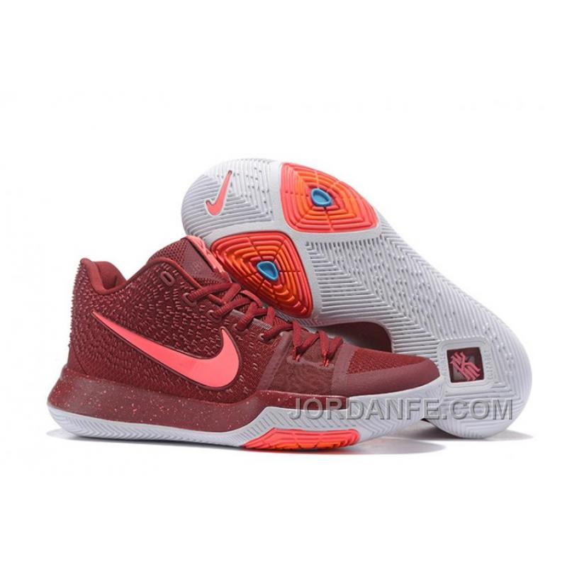 d63fc281c6d6 Nike Kyrie 3 Mens BasketBall Shoes Burgundy Online 43YKJ