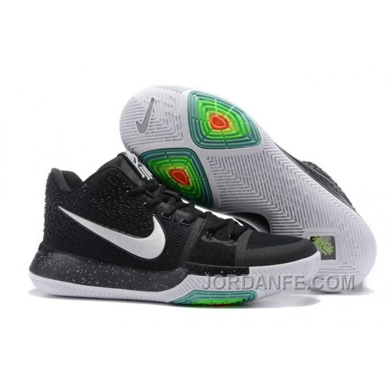 044f24e3f5a69 Nike Kyrie 3 Mens BasketBall Shoes Black White Authentic DwjSh ...