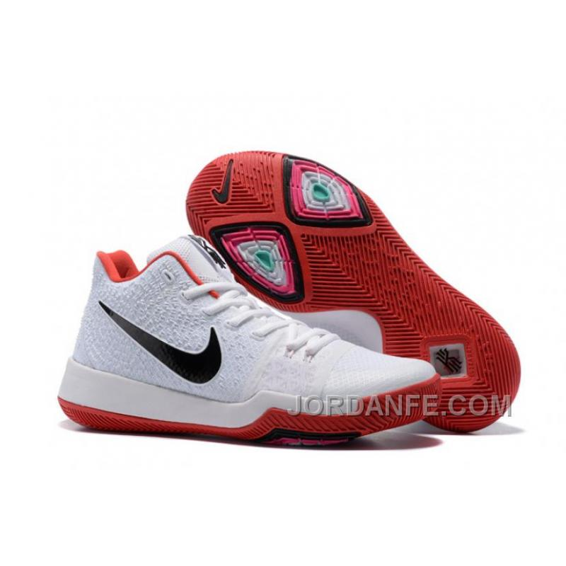 quality design b8770 59f3c USD  96.00  307.20. Nike Kyrie 3 Mens BasketBall Shoes White Red Authentic  ...