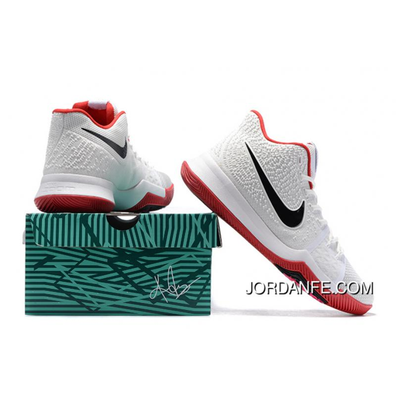 d6072cfa79ab ... Nike Kyrie 3 White Red Black Cheap To Buy
