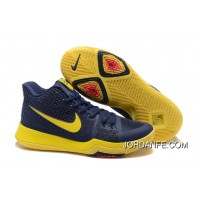 "Nike Kyrie 3 ""Cavs"" Blue Yellow On Sale Free Shipping"