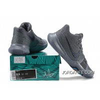 Free Shipping 2017 New Nike Kyrie 3 Cool Grey-Anthracite-Polarized Blue Released