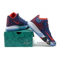 Nike Kyrie 4 Mens Basketball Shoes Blue Red Top Deals