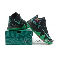 Nike Kyrie 4 Mens Basketball Shoes Black Green New Style