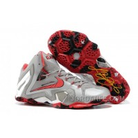 "Nike LeBron 11 Elite ""Team"" Wolf Grey/Crimson-Cool Grey-Black For Sale New Release"