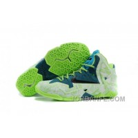 NIKEiD LeBron 11 Graffiti Green Blue For Sale