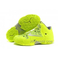 Nike LeBron 11 Volt Silver Discount