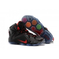 Nike LeBron 12 Black/Red For Sale Hot