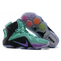 Nike LeBron 12 Teal/Court Purple-Black For Sale Authentic