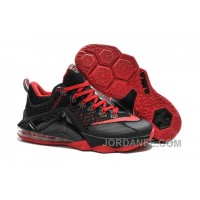 fb44b292f1bd7 Nike Lebron 12 Low Black And Red New Release