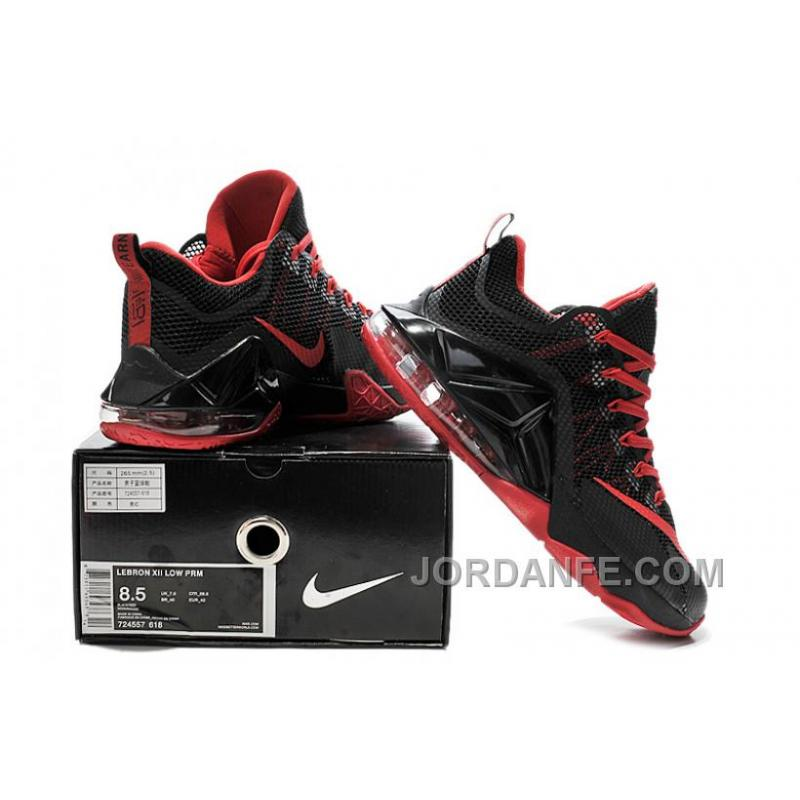 8c5ebbbf67bb8 ... Nike Lebron 12 Low Black And Red New Release