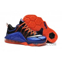Nike Lebron 12 Low Black Blue Orange Online