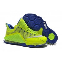 48a1917f52524 Nike Lebron 12 Low Sapphire Blue Green Top