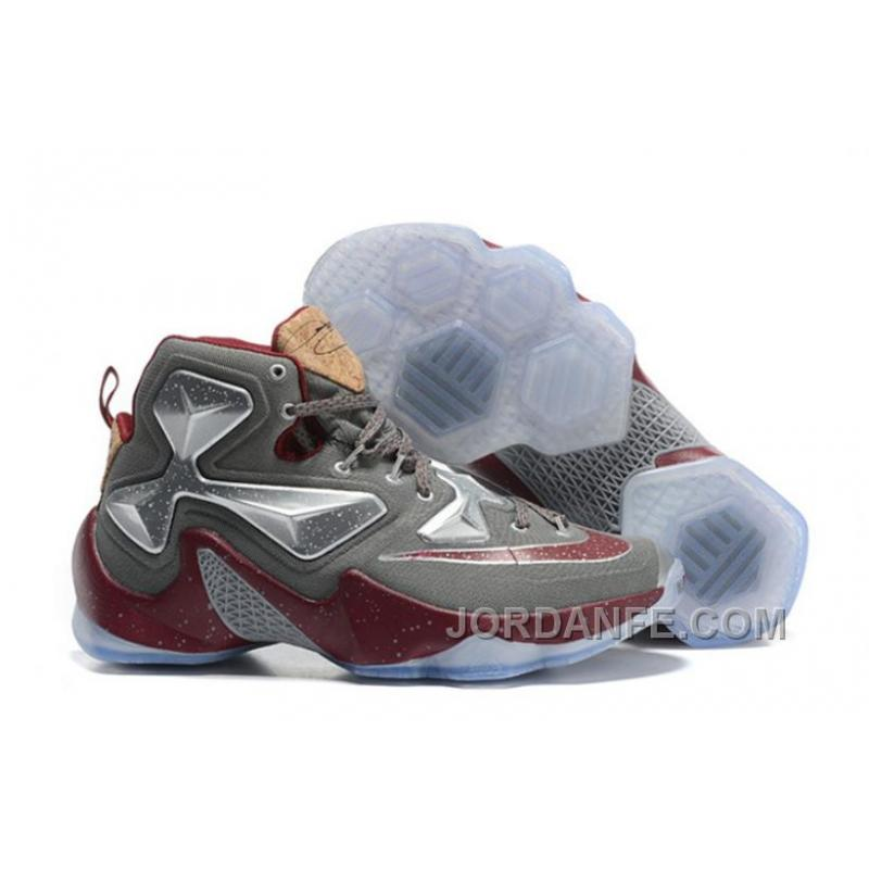 "Nike LeBron 13 ""Opening Night"" Fine Wine/Wolf Grey Basketball ..."