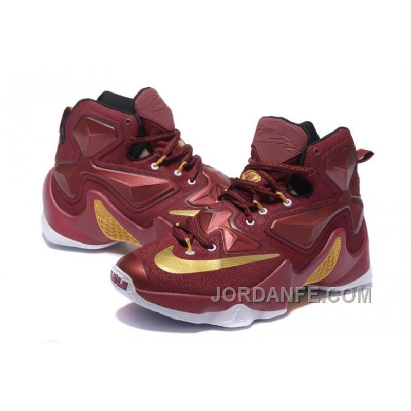 promo code 0b5ce 9e3e1 Nike Lebron 13 Custom 25K Burgundy Gold For Sale