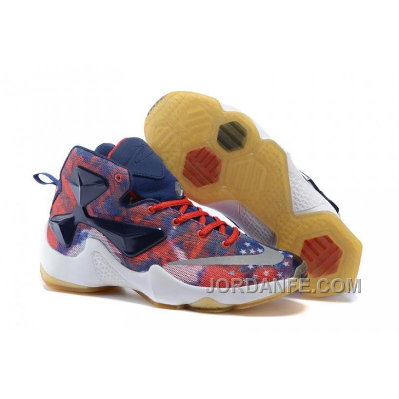 02fa9bd79d6 USD  85.98  99.18. Nike LeBron 13 Grade School Shoes American Star Xmas  Deals ...