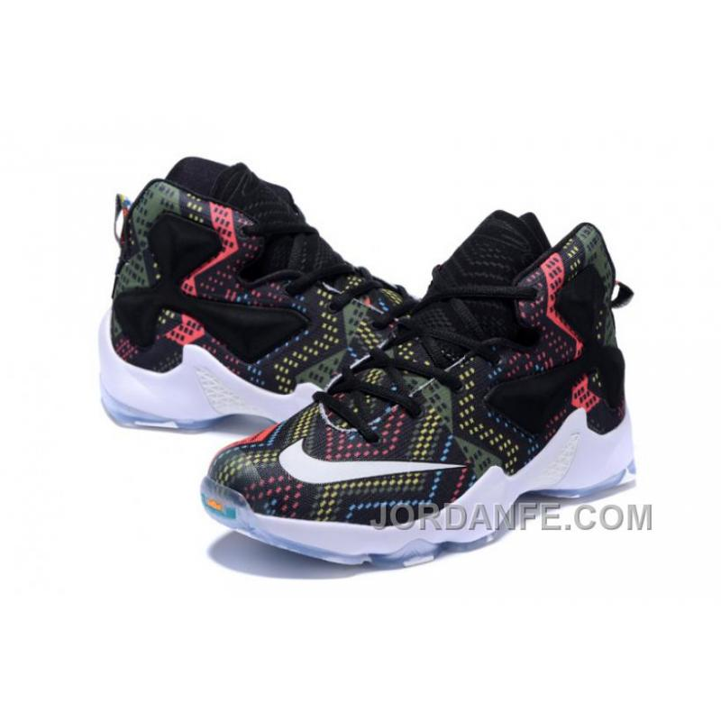 finest selection 3e3c3 2425b ... Nike LeBron 13 Grade School Shoes Black History Month Authentic