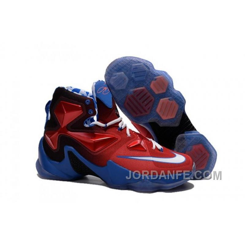 f3db1dcbfd9 Nike LeBron 13 Grade School Shoes Captain America Hot