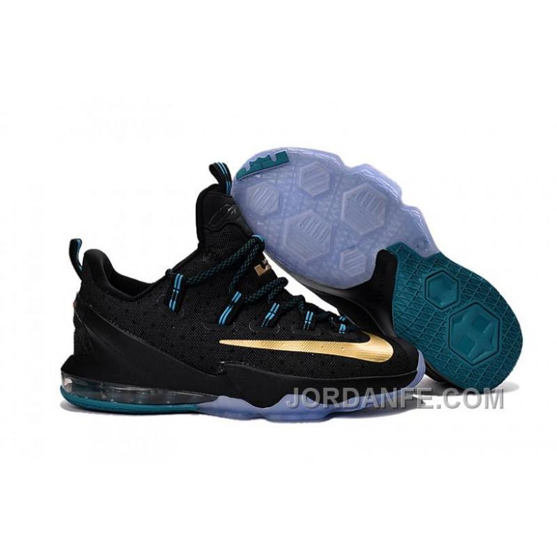 new product ae173 22364 USD  85.49  99.18. Nike Lebron 13 Low Black Gold ...