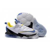Nike Lebron 13 Low White Yellow Blue Authentic