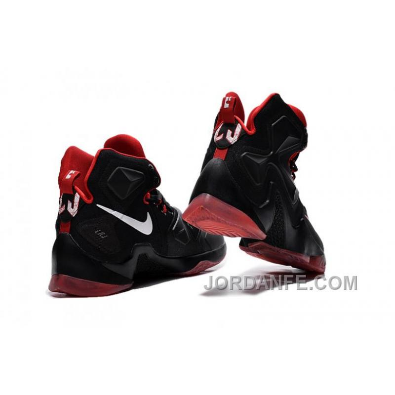 new product 0a1d8 3d819 ... Nike Lebron 13 Women Custom Black Red Authentic ...