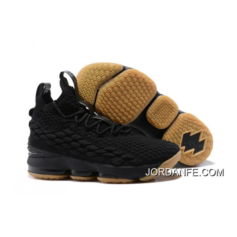 "fa026f2fc522 Super Deals Nike LeBron 15 ""Black Gum"" Black Anthracite-Light Brown ..."