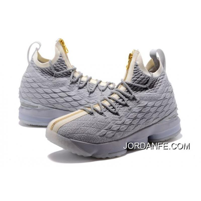 318c18cc391 For Sale Nike LeBron 15 Cool Grey Metallic Gold, Price: $93.59 - Air ...