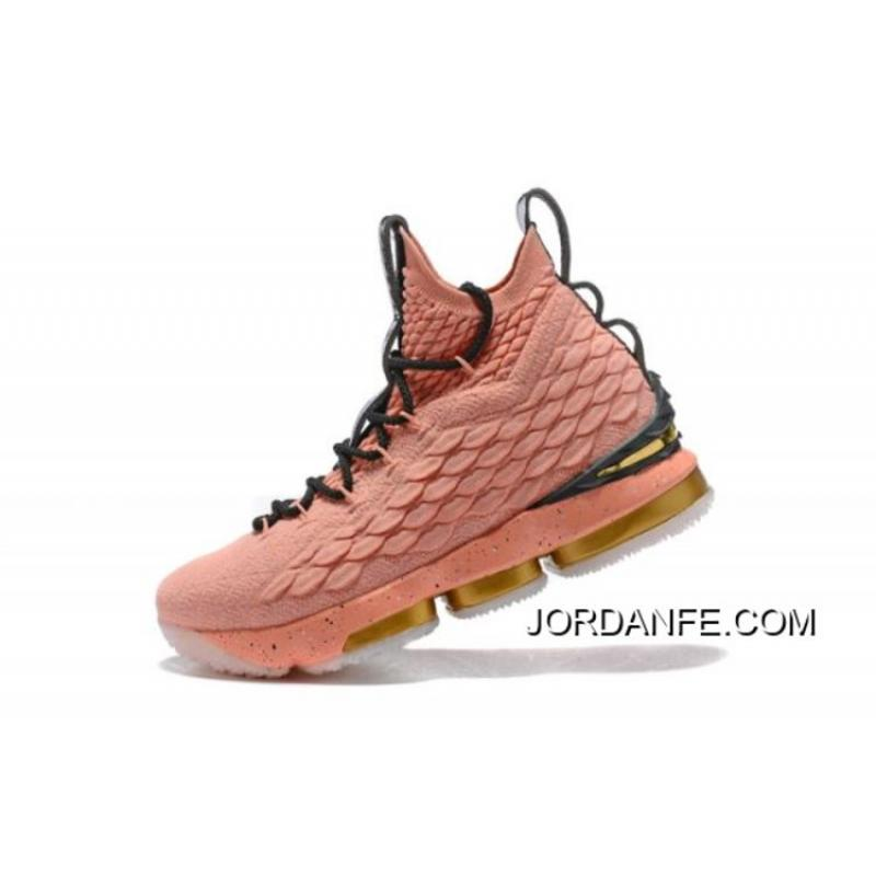 """05d5ce6a221 USD  93.33  279.98. Latest Men s Nike LeBron 15 Hollywood """"All-Star"""" Rust  Pink Metallic Gold ..."""