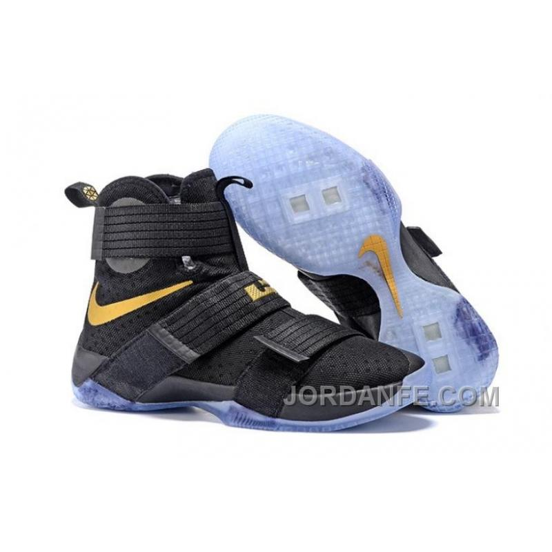 a1bc9c98a9ed USD  85.33  99.18. Nike Lebron Soldier 10 Black Gold ...