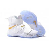 Nike Lebron Soldier 10 White Gold For Sale