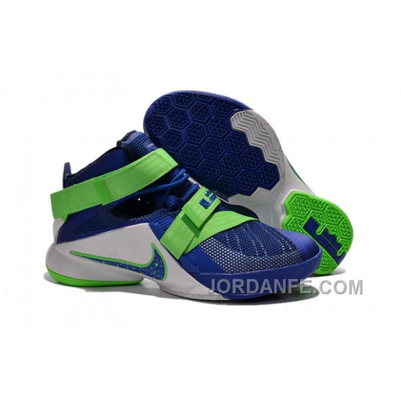 """cheap for discount b00a7 9d40b Nike LeBron Soldier 9 """"Sprite"""" Basketball Shoe Free Shipping, Price ..."""
