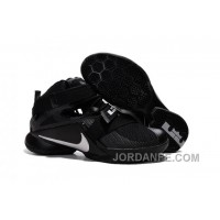 "Nike LeBron Soldier 9 ""Blackout"" All Black Basketball Shoe New Arrival"