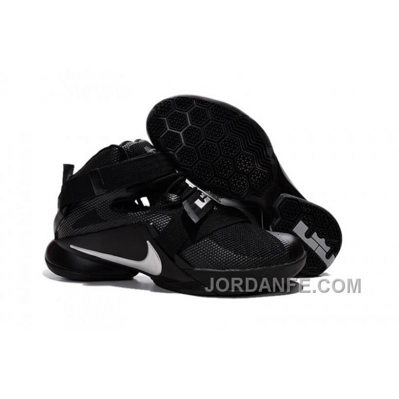 "aa0f45a2902c USD  85.90  99.18. Nike LeBron Soldier 9 ""Blackout"" All Black Basketball  Shoe ..."