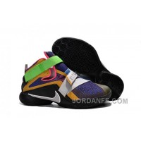 "Nike LeBron Soldier 9 ""What The LeBron"" Multi Color/Black-White Basketball Shoe Authentic"