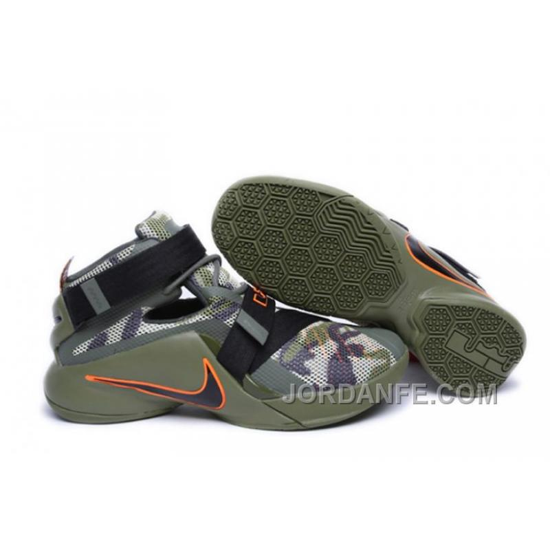 new concept c9e94 193ca Nike Lebron Soldier 9 Army Camo Authentic