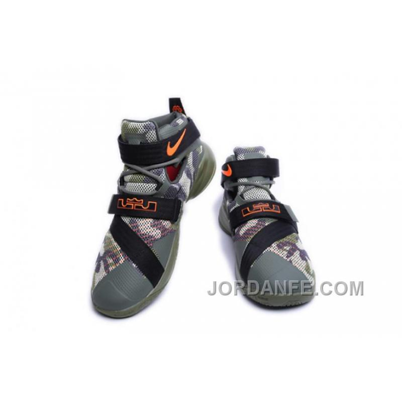 pretty nice a7279 4f61b ... Nike Lebron Soldier 9 Army Camo Authentic ...